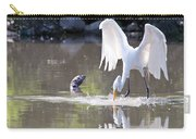 Great White Egret Fishing Sequence 4 Carry-all Pouch