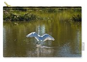 Great White Egret In Sunlight Carry-all Pouch
