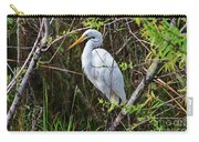 Great White Egret In The Wild Carry-all Pouch