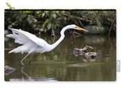Great White Egret Looking For Fish 1 Carry-all Pouch