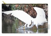 Great White Egret Splash 1 Carry-all Pouch