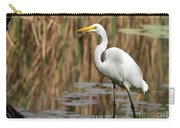 Great White Egret Taking A Stroll Carry-all Pouch