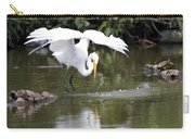 Great White Egret Wingspan And Turtles Carry-all Pouch