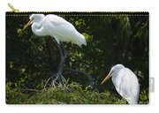 Great White Heron Meeting Carry-all Pouch