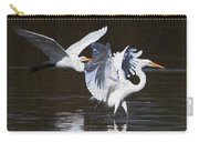 Greater Egrets Meet Up  Carry-all Pouch