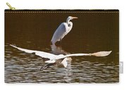 Greater Egrets Meeting Up Carry-all Pouch