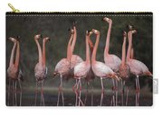 Greater Flamingo Group Courtship Dance Carry-all Pouch