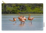 Greater Flamingos Carry-all Pouch