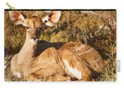 Greater Kudu Calf Carry-all Pouch