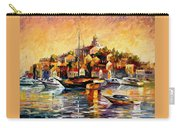 Greek Day - Palette Knife Oil Painting On Canvas By Leonid Afremov Carry-all Pouch