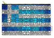 Greek Flag - Greece Stone Rock'd Art By Sharon Cummings Carry-all Pouch