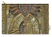 Greek Icon Of Saint Nicolas  Carry-all Pouch