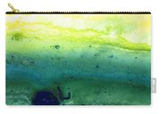Green Abstract Art - Life Song - By Sharon Cummings Carry-all Pouch