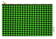 Green And Black Checkered Pattern Cloth Background Carry-all Pouch