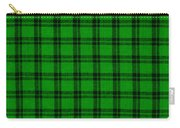 Green And Black  Plaid Cloth Background Carry-all Pouch