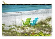 Green And Blue Chairs Carry-all Pouch