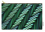 Green And Blue Folds Carry-all Pouch