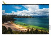 Green And Blue Lake Carry-all Pouch