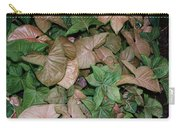 Green And Brown Leaves Carry-all Pouch