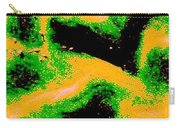 Green And Gold Pattern Abstract Carry-all Pouch