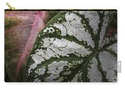 Green And Pink Caladiums Carry-all Pouch