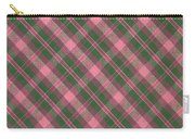 Green And Pink Diagonal Plaid Pattern Textile Background Carry-all Pouch