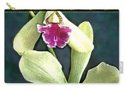 Green And Purple Cattleya Orchids Carry-all Pouch