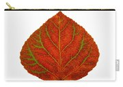Green And Red Aspen Leaf 3 Carry-all Pouch