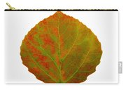 Green And Red Aspen Leaf 5 Carry-all Pouch