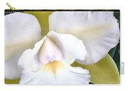 Green And White Cattleya Orchid Carry-all Pouch
