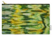 Green And Yellow Abstract Carry-all Pouch