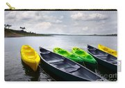 Green And Yellow Kayaks Carry-all Pouch