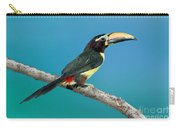 Green Aracari On Branch Carry-all Pouch