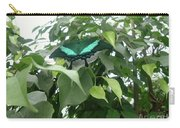 Green Banded Butterfly Carry-all Pouch