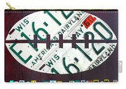 Green Bay Packers Football License Plate Art Carry-all Pouch