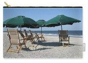 Green Beach Umbrellas Carry-all Pouch