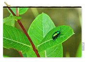 Green Beetle Foraging Carry-all Pouch