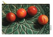 Green Bowl Red Marbles Carry-all Pouch