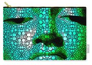 Green Buddha - Stone Rock'd Art By Sharon Cummings Carry-all Pouch by Sharon Cummings