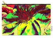 Green Clematis Flower Carry-all Pouch