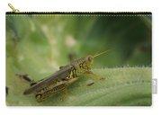 Green Closeup Grasshopper Carry-all Pouch