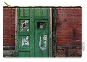 Green Door On Red Brick Wall Carry-all Pouch