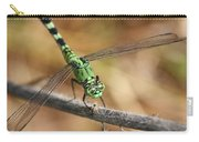 Green Dragonfly Square Carry-all Pouch
