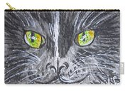 Green Eyes Black Cat Carry-all Pouch