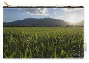 Green Field In Sunset Carry-all Pouch