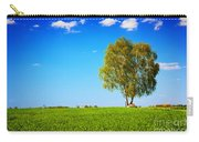 Green Field Landscape With A Single Tree Carry-all Pouch