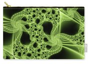 Green Filigree Carry-all Pouch