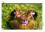 Green Frog Hiding Carry-all Pouch
