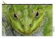 Green Frog Carry-all Pouch by Matthias Hauser