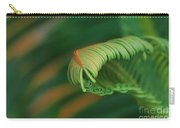 Green Frond  Abstract Carry-all Pouch